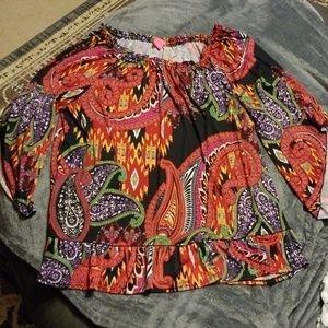 Sunny Leigh Woman's Colorful Blouse